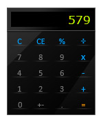 Гаджет glossy calculator